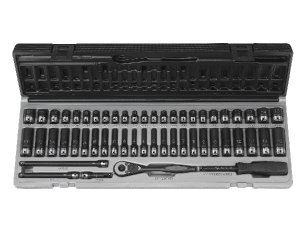 29 Piece Grey Pneumatic 82629MD 1//2 Drive 6-Point Deep Length Metric Duo-Socket Set